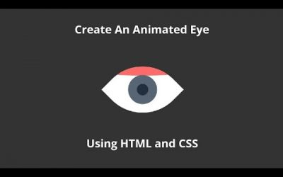 CSS Animated Eye On Hover | CSS HTML Hover Effects