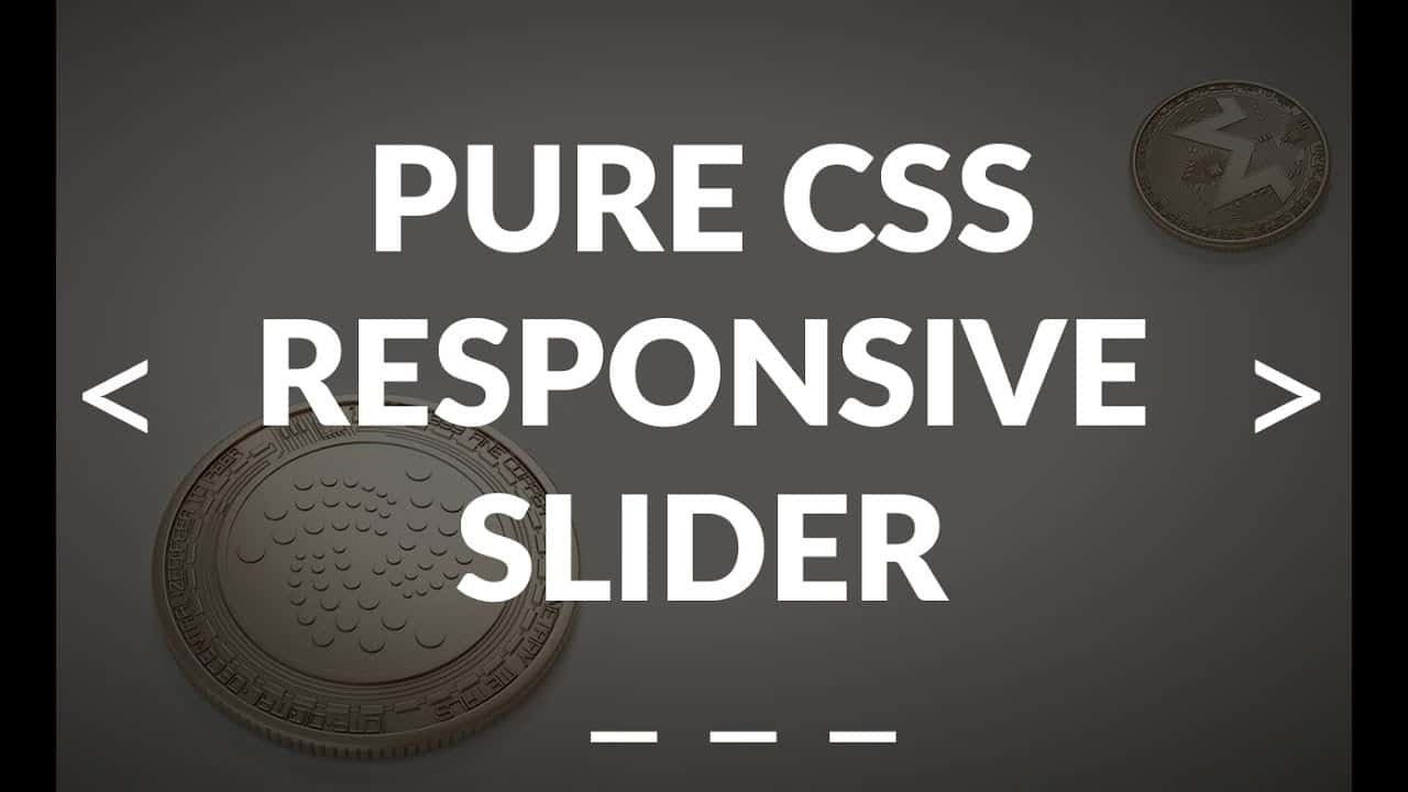 Pure CSS Responsive Image Slider - Only HTML & CSS