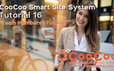 Do It Yourself – Tutorials – CooCoo Smart Site – Tutorial 16 – (Team Members) – Build your Joomla website in under 60 minutes!