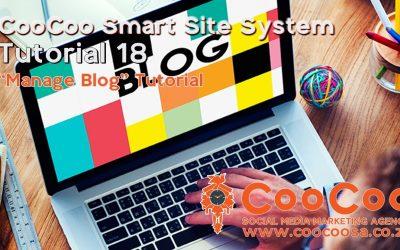 Do It Yourself – Tutorials – CooCoo Smart Site – Tutorial 18 – (Manage Blog) – Build your Joomla website in under 60 minutes!