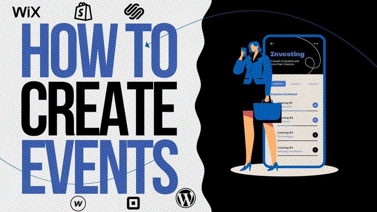 HOW TO CREATE A WEBSITE For Beginners? / Manage Events on WIX.COM Tutorial