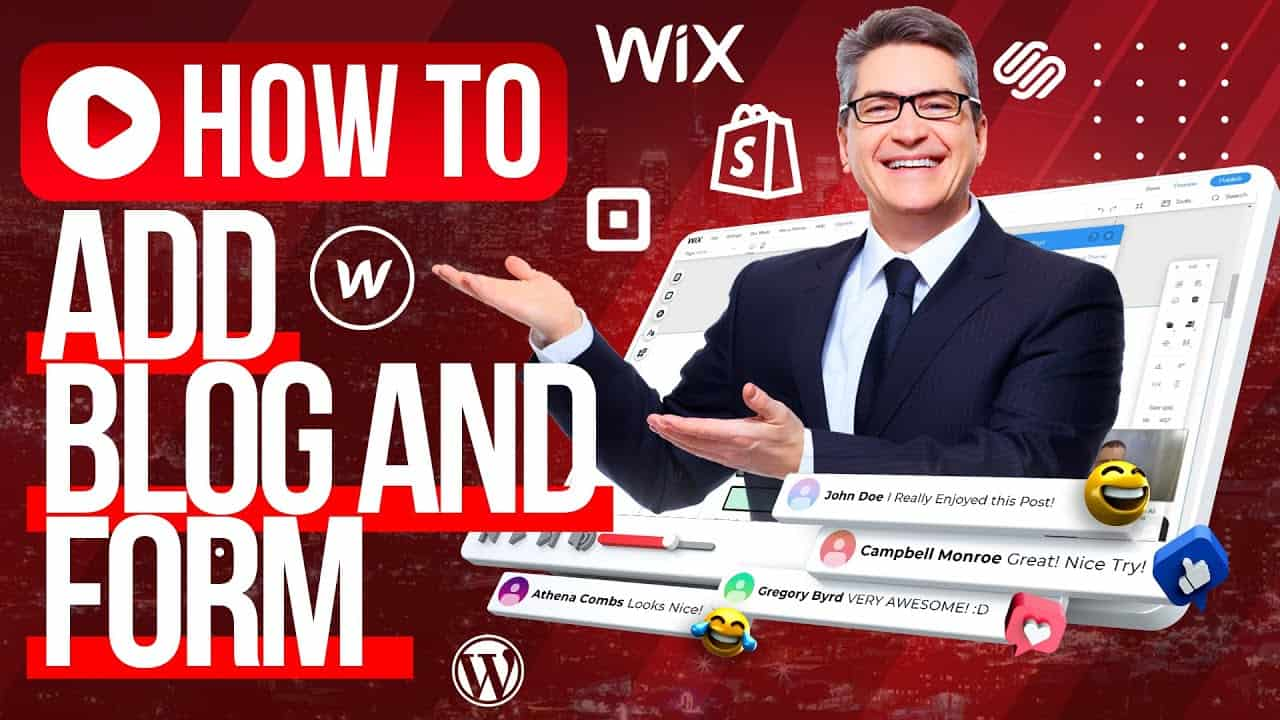 HOW TO BUILD A WEBSITE For Beginners? / Add Blog and Subscribe Form  Tutorial At WIX.COM