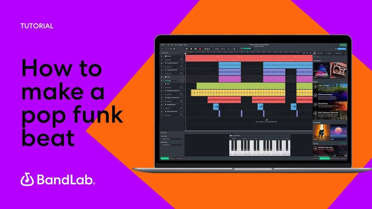 How to make a pop funk beat using BandLab's free web Mix Editor