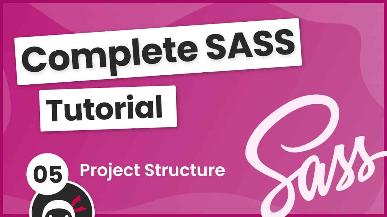 SASS Tutorial (build your own CSS library) #5 - Project Structure