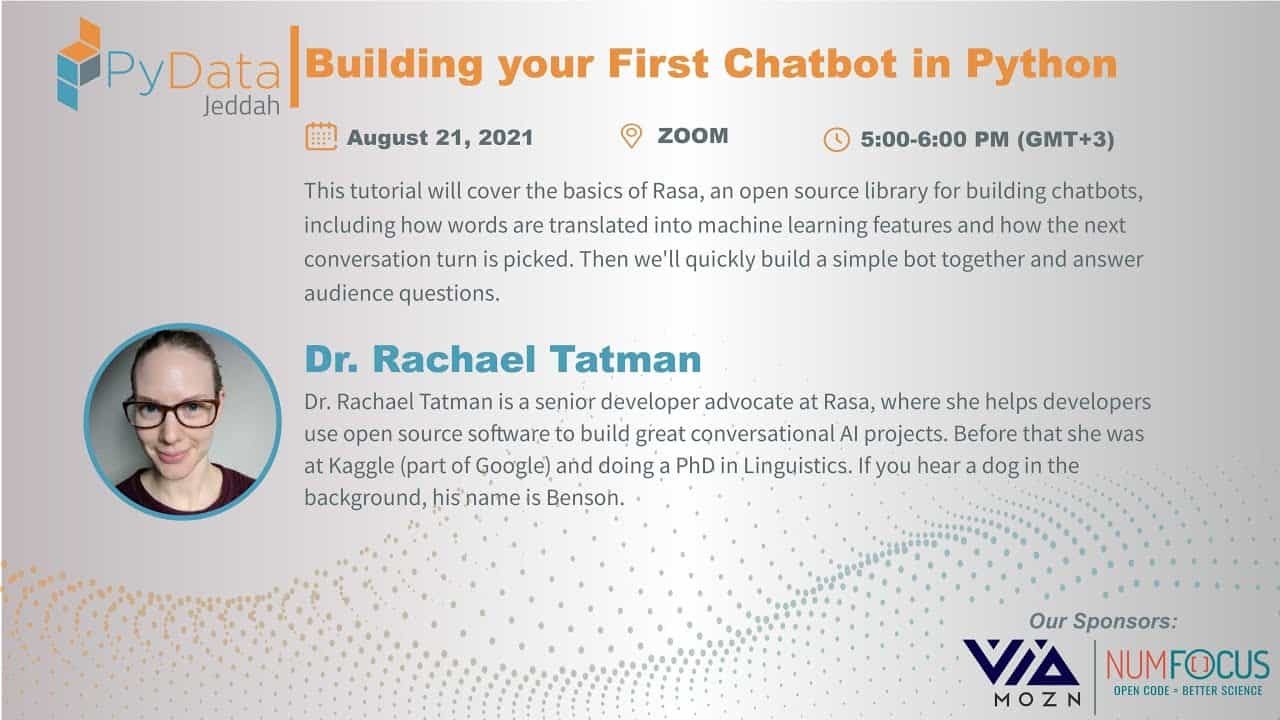 Building your first chatbot in Python - Rachael Tatman   PyData Jeddah