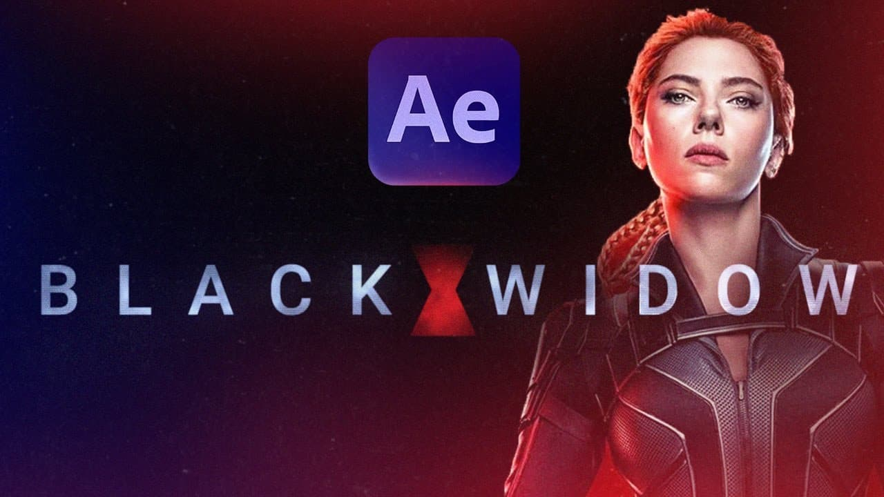 Create a Marvel Intro in 15 minutes? Black Widow After Effects Tutorial