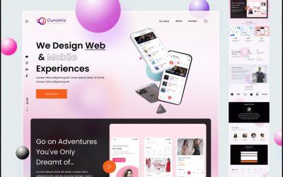 Do It Yourself – Tutorials – Creative Agency Website Design (2021 Trends)  || Figma tutorial | Landing Page Design | Glass Effect