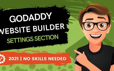 Do It Yourself – Tutorials – GoDaddy Website Builder Settings Section (2021)