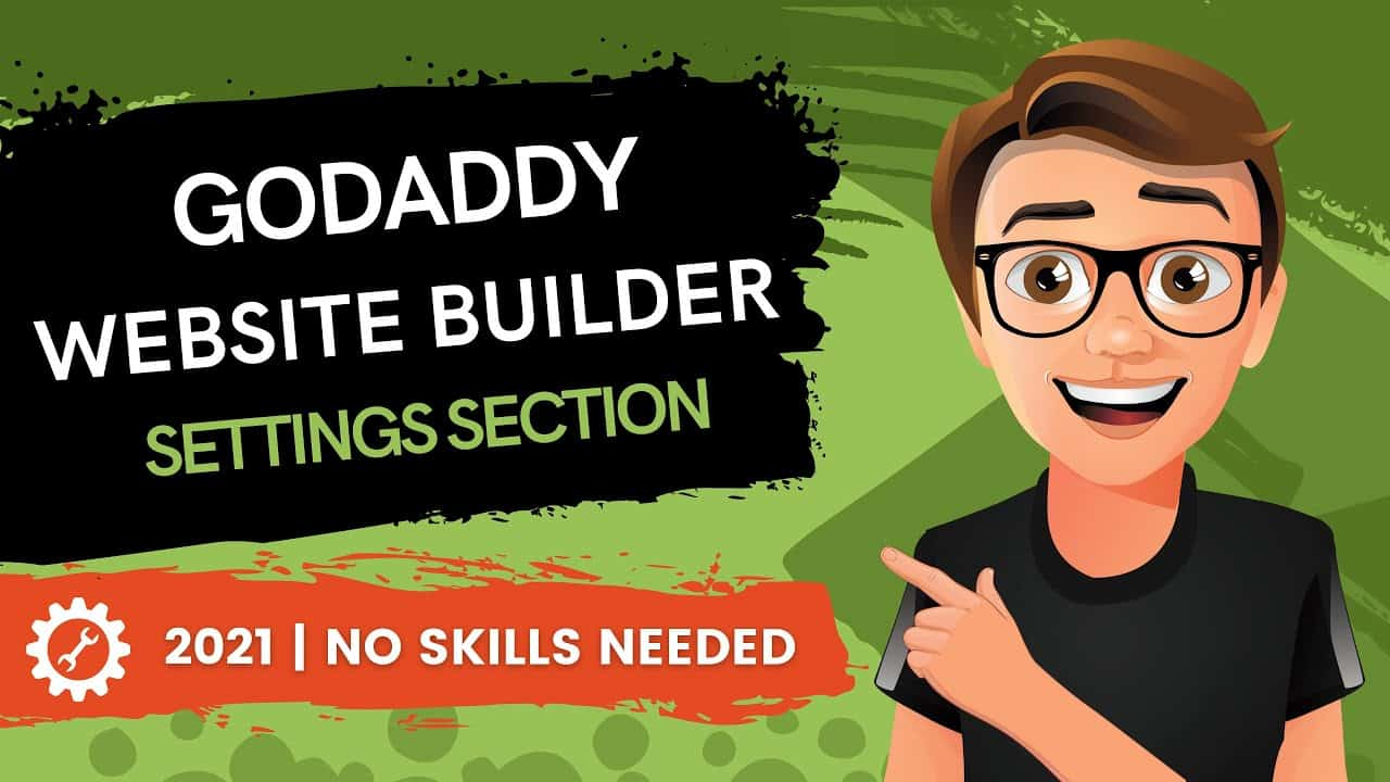 GoDaddy Website Builder Settings Section (2021)
