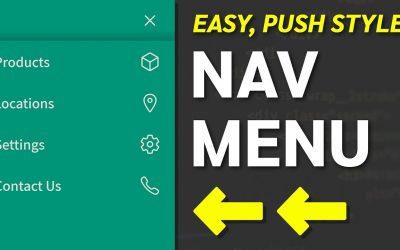 Do It Yourself – Tutorials – How to Create a Push Navigation Menu – HTML, CSS Web Design Tutorial
