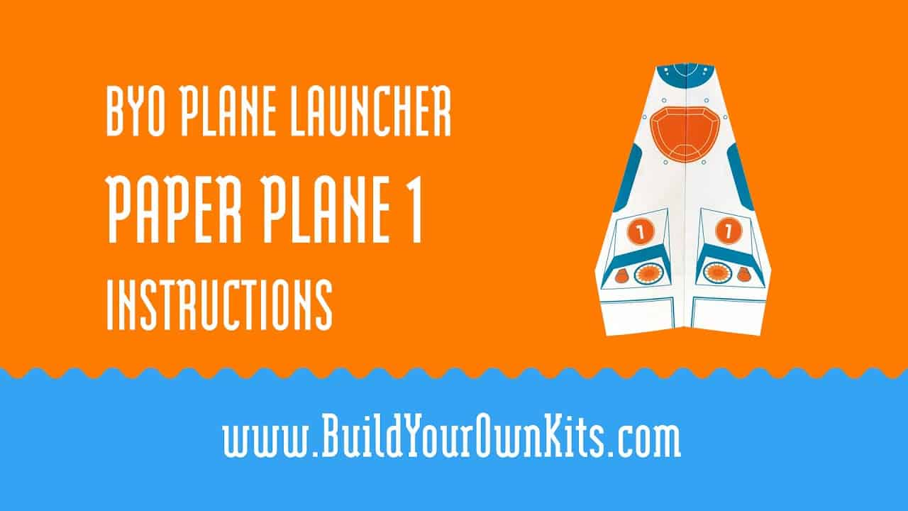 Paper Plane 1 Instructions | Build Your Own Kits