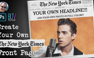 Do It Yourself – Tutorials – Photoshop: Create Your Own NY Times Front Page in Color!