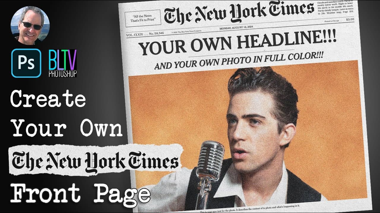 Photoshop: Create Your Own NY Times Front Page in Color!