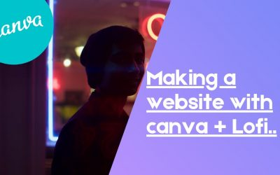 Do It Yourself – Tutorials – WATCH ME CREATE A WEBSITE WITH CANVA + LOFI