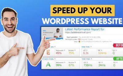 WordPress For Beginners – Easy ways to speedup your WordPress website   step-by-step 2021 Tutorial