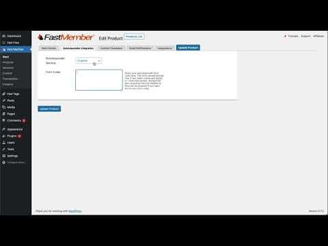 WordPress For Beginners – Fast Member Product Settings Overview – WordPress Membership Plugin