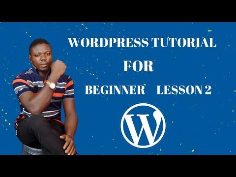WordPress tutorial for beginners lesson 2