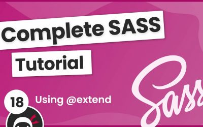 Do It Yourself – Tutorials – SASS Tutorial (build your own CSS library) #18 – Using @extend