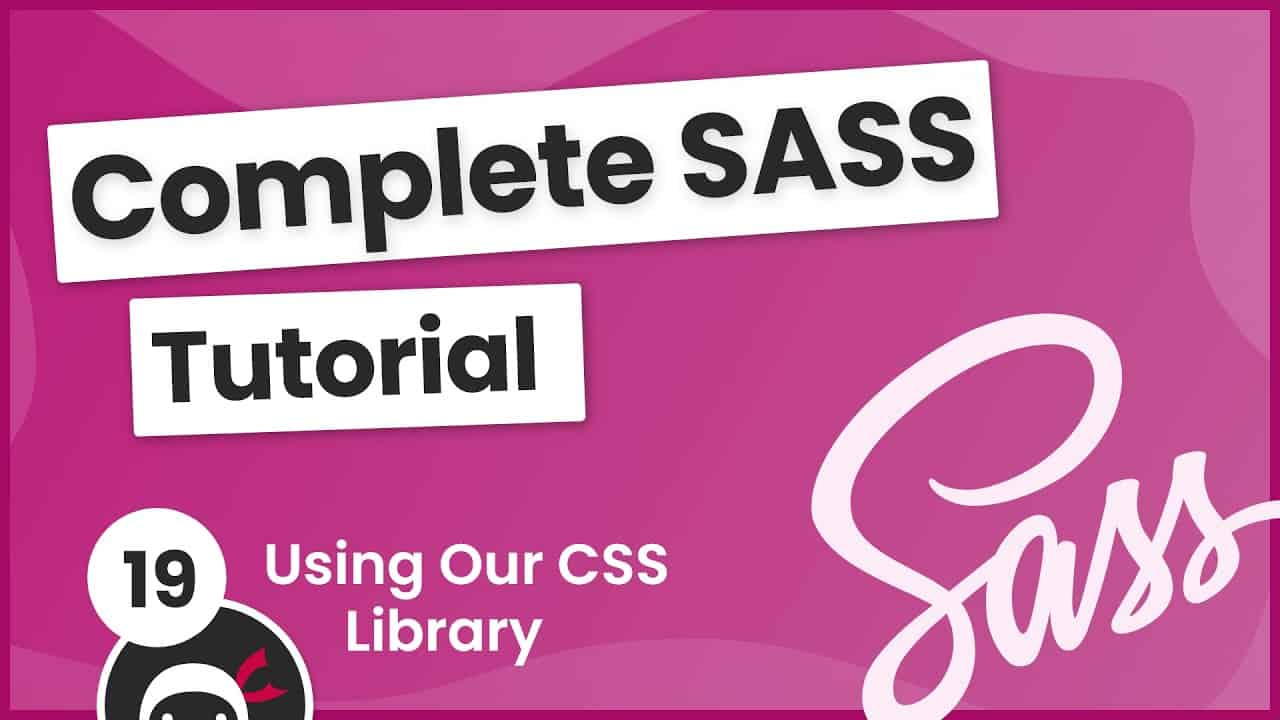 SASS Tutorial (build your own CSS library) #18 - Using the CSS Library