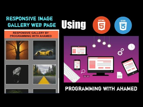 Create your own responsive image gallery web page using |HTML and CSS|without Javascript[Web series]