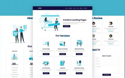 Do It Yourself – Tutorials – Create A Responsive Illustration Website Design Tutorial For Beginners Using HTML – CSS – JavaScript