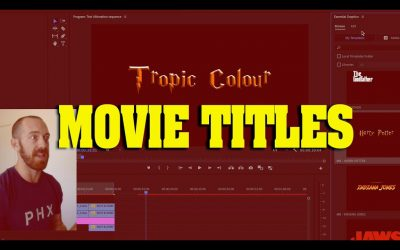 Do It Yourself – Tutorials – Create Classic Movie Titles! Editing Tutorial (adobe premiere)