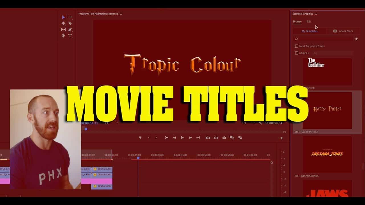 Create Classic Movie Titles! Editing Tutorial (adobe premiere)