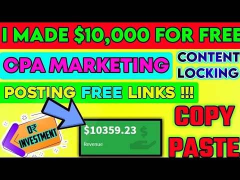 Free Course   CPA Content Locking Website   Make Money Online 2021 (FAST)   Affiliate Marketing