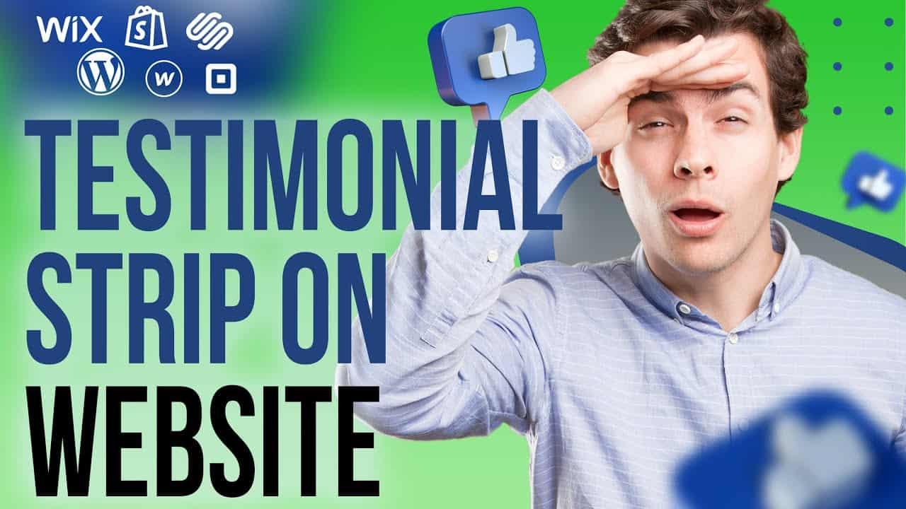 HOW TO BUILD A WEBSITE For Restaurant Business / WIX.COM Testimonial Strip Tutorial