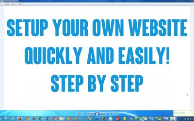 Do It Yourself – Tutorials – How to Setup / Create Your Own Website With WordPress Step by Step EASY!