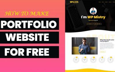 Do It Yourself – Tutorials – How to create portfolio website on WordPress in 2021 ||  Elementor portfolio tutorial ||| WP Mistry