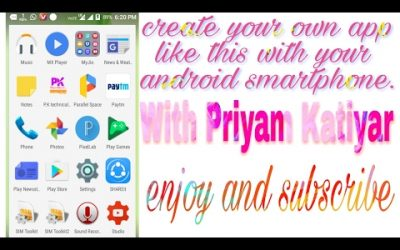 Do It Yourself – Tutorials – How to develop your own android app with your Android smartphone..just simple steps..full tutorial..