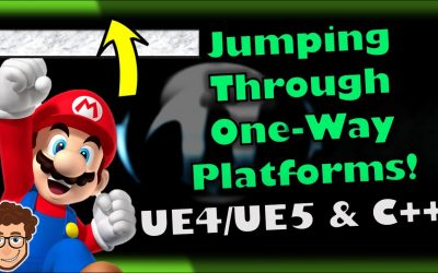 Do It Yourself – Tutorials – Jumping Through One-Way Platforms! | How To Make YOUR OWN SSB Game | Unreal & C++ Tutorial, Part 24