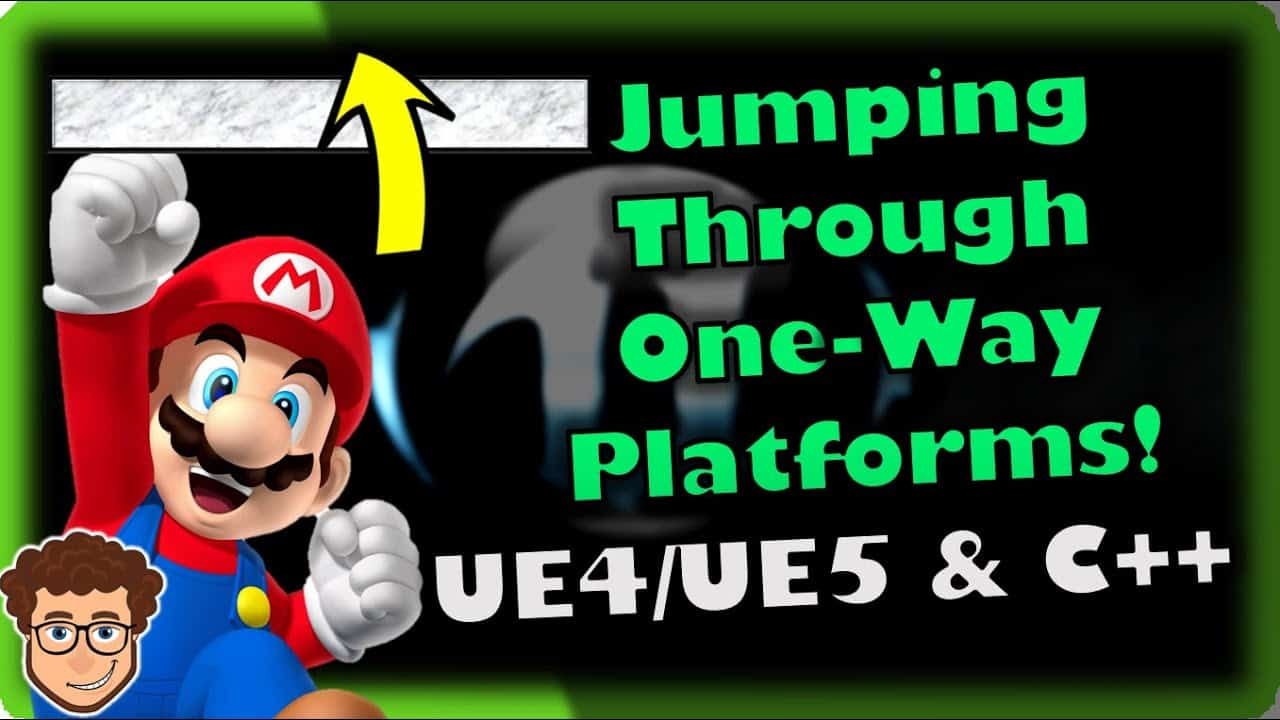 Jumping Through One-Way Platforms!   How To Make YOUR OWN SSB Game   Unreal & C++ Tutorial, Part 24