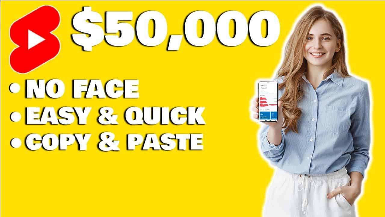 Make Money From Youtube Shorts $50,000+ (No Camera Needed)