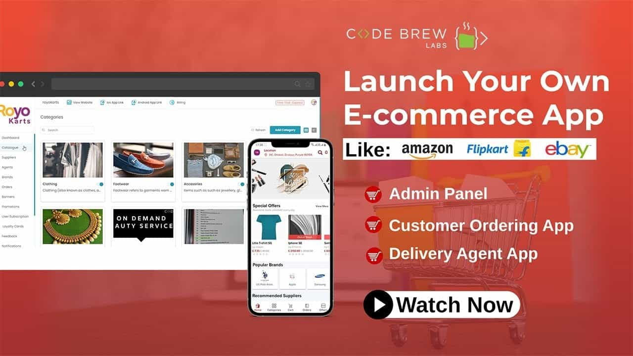 Make Your Own Ecommerce App and Website | WhiteLabel Ecommerce App | Live Demo