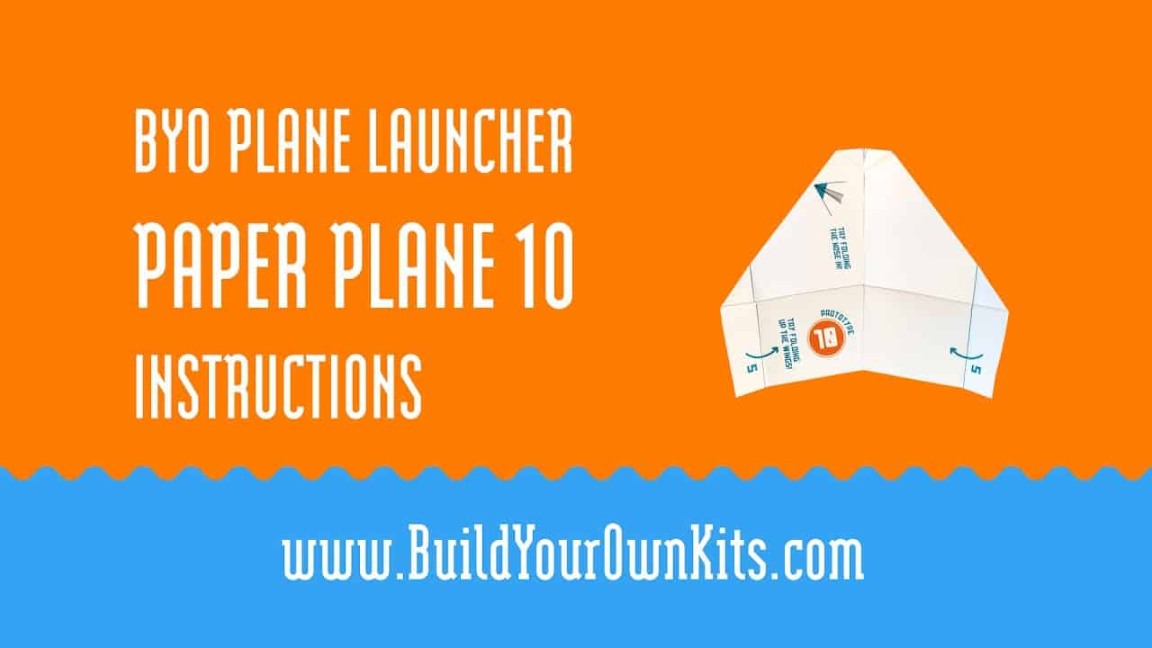 Paper Plane 10 Instructions | Build Your Own Kits