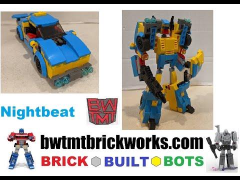 Transformers Headmaster Nightbeat by BRICKWORKS BRICK BUILT BOTS