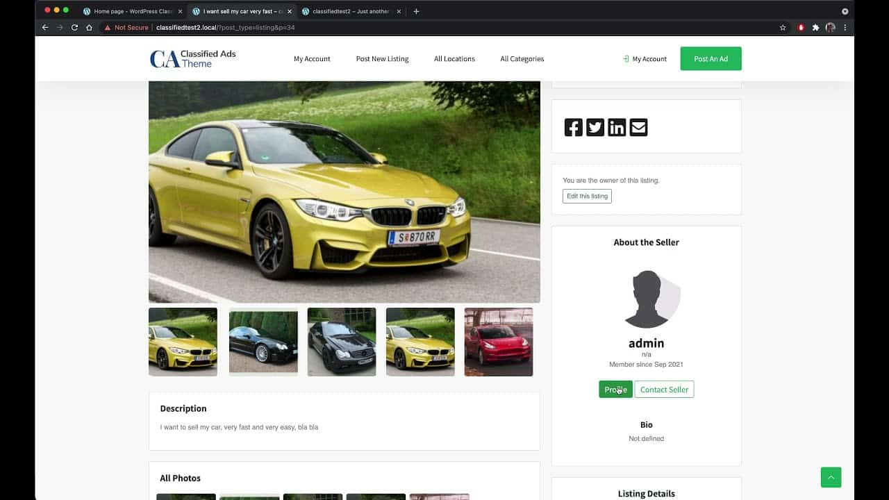 WordPress: How to build your own classified ads website! Similar site to gumtree or craigslist