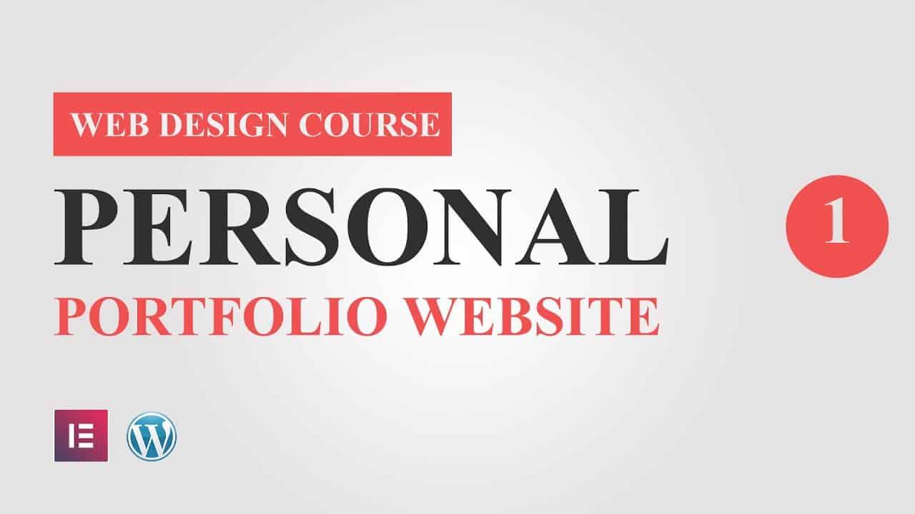 #1 Portfolio Website Design Tutorial Course for Elementor