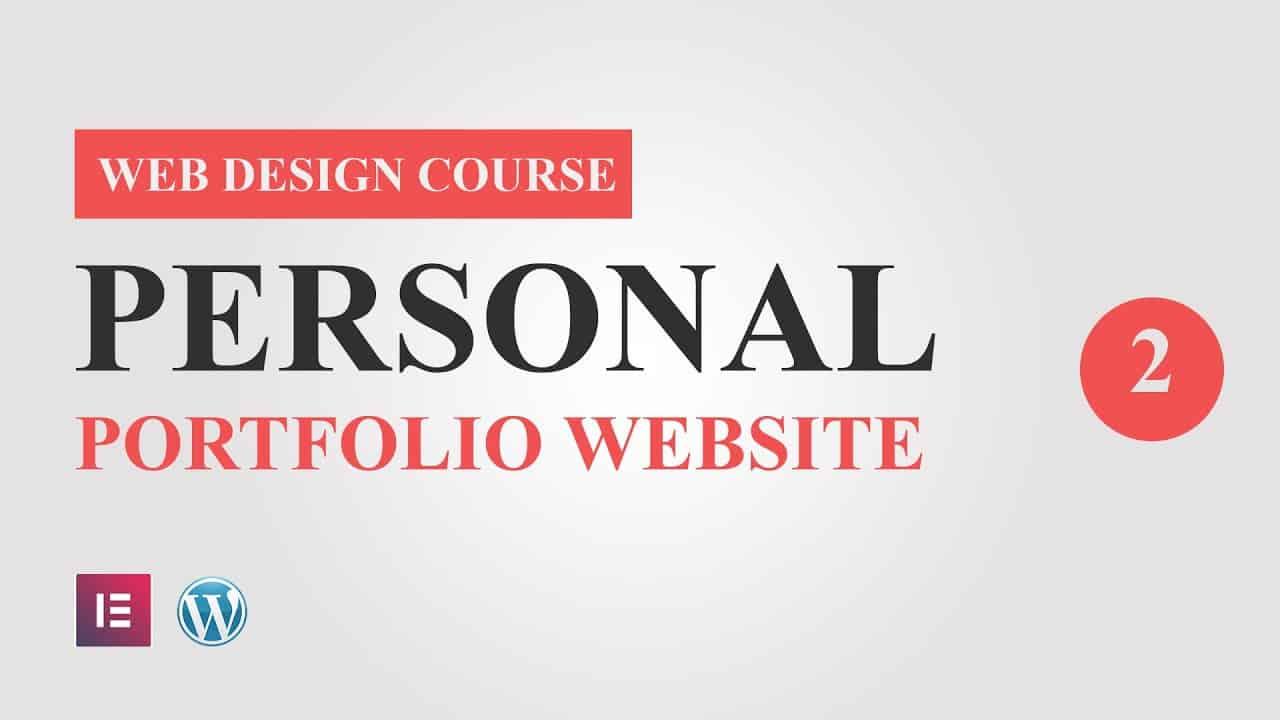 #2  Portfolio Website Design Tutorial Course for Elementor