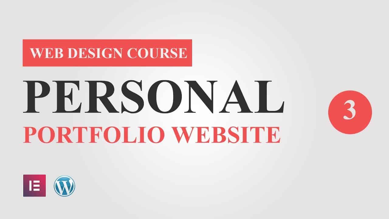 #3 Portfolio Website Design Tutorial Course for Elementor