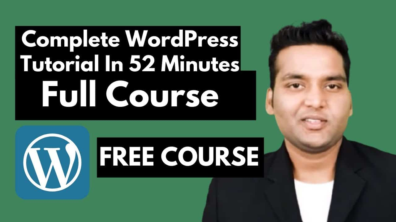 Complete WordPress Tutorial for Beginners (Step by Step) - Full Course  | #Seekmyvision