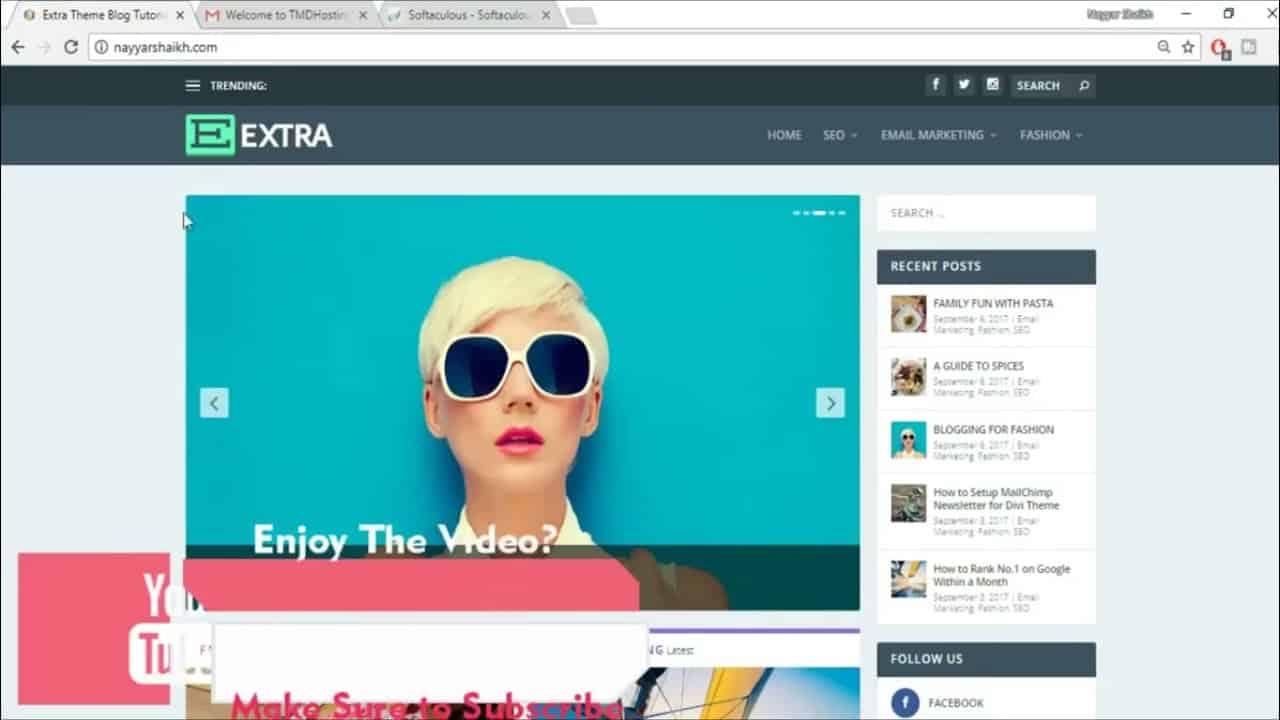 How to Create a Blog Website - WordPress Extra Theme Tutorial 2011