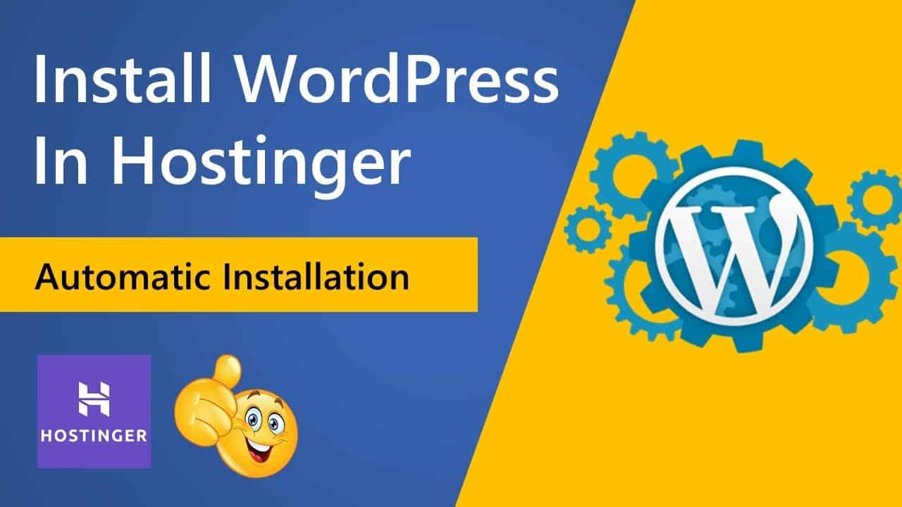 How to Install WordPress in Hostinger with Theme | Complete WordPress Installation Tutorial in 2021