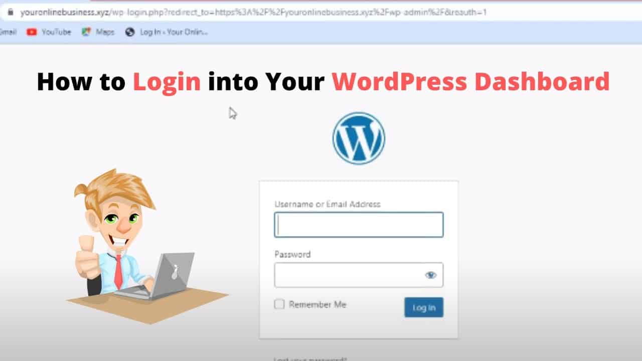 How to Login into your WordPress Dashboard Tutorial 2021