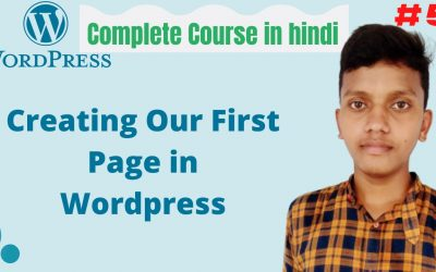 WordPress For Beginners – How to create page in wordpress   Landing page   WordPress tutorial for beginners in hindi #4