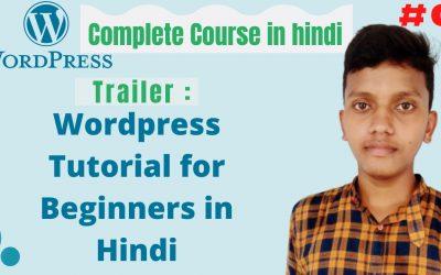 WordPress For Beginners – WordPress tutorial for beginners   wordpress tutorial in hindi   Complete Course   Hindi   Urdu   #0