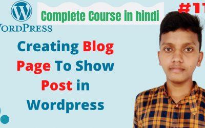 WordPress For Beginners – How to create Blog Page in WordPress   wordpress tutorial for beginners in hindi  #11