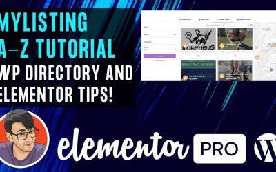 WordPress For Beginners – MyListing Directory WordPress Theme A-Z Tutorial with an Elementor Website